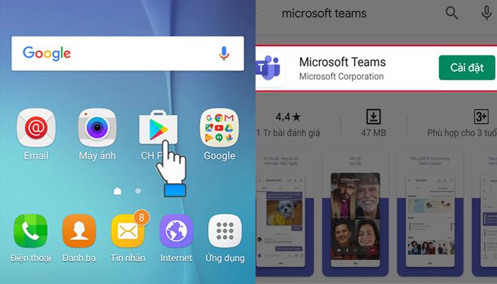 Giao diện cài đặt ứng dụng trên điện thoại Android
