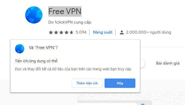 Sử dụng Free VPN để sửa lỗi kết nối