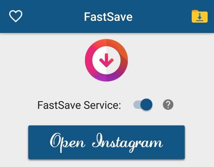 Thao tác khởi động ứng dụng FastSave