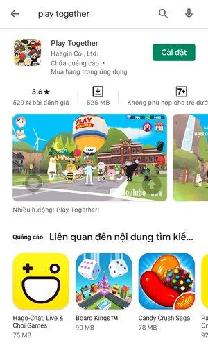 Thao tác cài đặt game về điện thoại Android